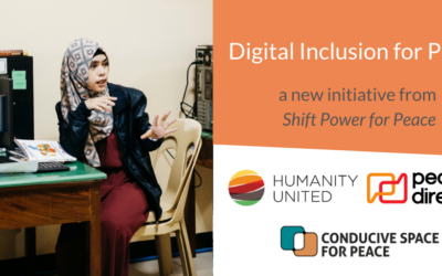Shift Power for Peace Launches Digital Inclusion Initiative for Local Peacebuilders