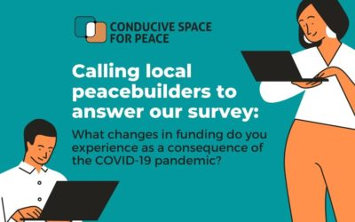 Survey among local peacebuilders: What changes in funding do you experience as a consequence of the pandemic?